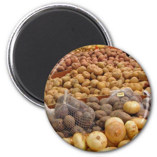 Potatoes of Peru 6 Cm Round Magnet