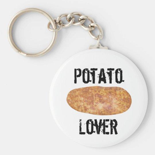 Potatoes Series Basic Round Button Key Ring