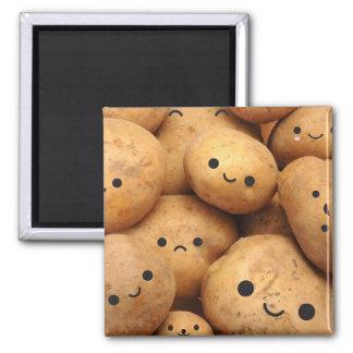 Potatoes Square Magnet