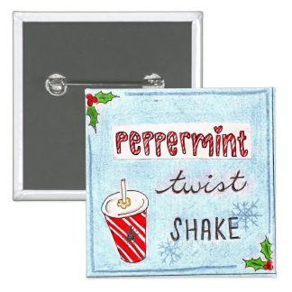 Potbelly NEW Peppermint Twist Shake bag tag 15 Cm Square Badge