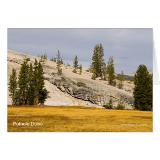 Pothole Dome Yosemite California Products Greeting Card