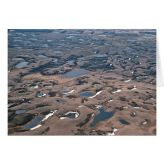 Potholes in Wetlands, (Aerials) Greeting Card