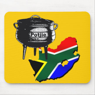 Potjiekos lovers South African flag gifts Mousepads
