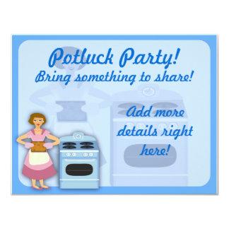 "Potluck Party 4.25"" X 5.5"" Invitation Card"