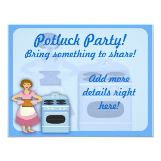 Potluck Party Announcements