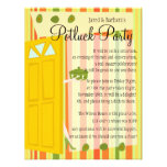 Potluck Party Personalised Announcements
