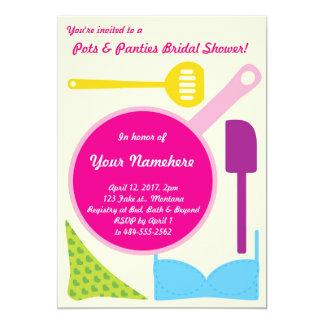 Pots and Panties Bridal Shower invitation