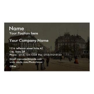 Potsdam Square, Berlin, Germany rare Photochrom Business Card Template