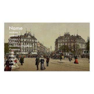 Potsdam Square, Berlin, Germany rare Photochrom Business Cards