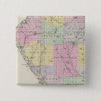 Pottawatomie County, Kansas 2 15 Cm Square Badge