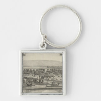 Pottawatomie County, Kansas Silver-Colored Square Key Ring