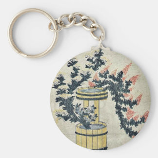 Potted autumn grasses and Rikka by UtamaroII,d. ca Key Chain