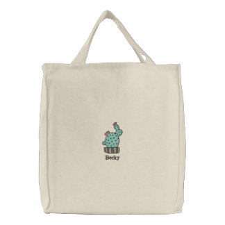 potted cactus Personalized Embroidered Bag