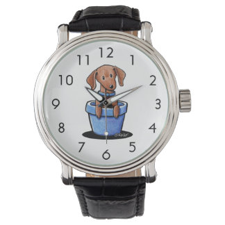 Potted Doxie Wrist Watch