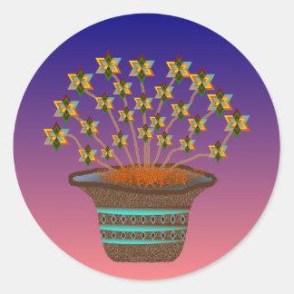 Potted Pinwheels Stickers-20 per sheet Round Sticker