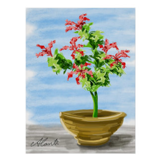 Potted Plant Poster