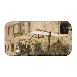 Potted plants and patio umbrellas in front of a vibe iPhone 4 covers