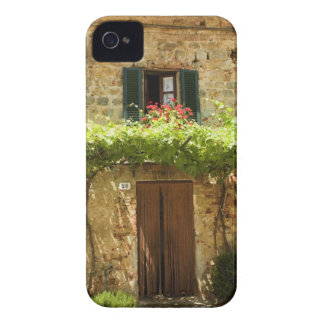 Potted plants in front of a building, Piazza iPhone 4 Case