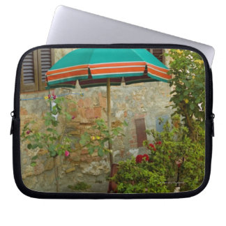 Potted plants in lawn, San Gimignano, Siena Laptop Sleeve