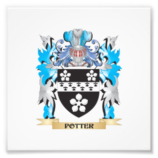 Potter Coat of Arms - Family Crest Photographic Print