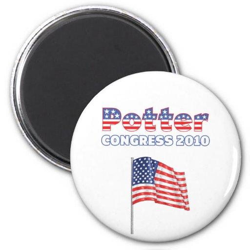 Potter Patriotic American Flag 2010 Elections Refrigerator Magnet
