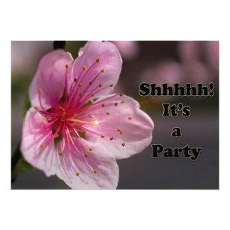 Potter s Elegant Floral Surprise party invite
