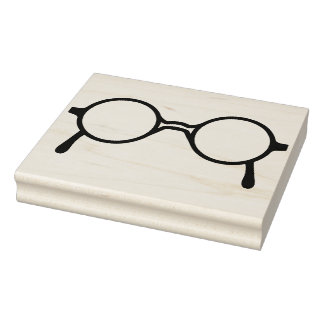 Potter-Style Eyeglasses Rubber Art Stamp