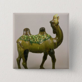 Pottery Chinese wailing camel 15 Cm Square Badge