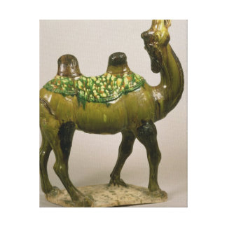 Pottery Chinese wailing camel Canvas Print