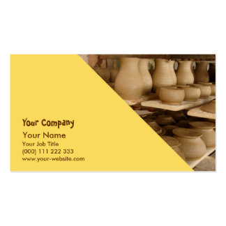 Pottery drying business card template