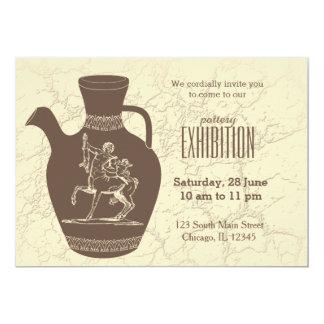 Pottery exhibition 13 cm x 18 cm invitation card