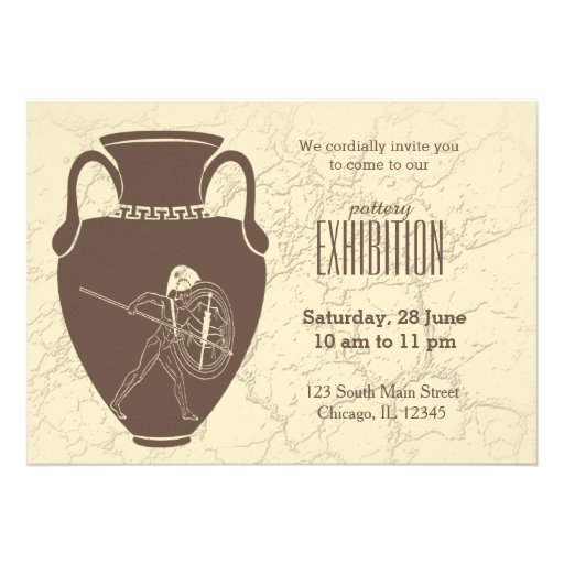 Pottery exhibition card