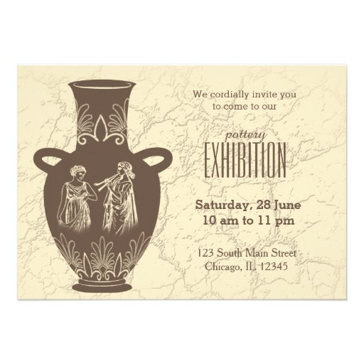 Pottery exhibition personalized announcement