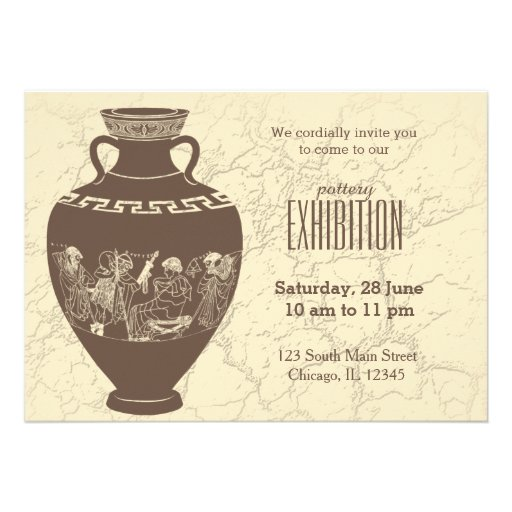 Pottery exhibition custom announcement