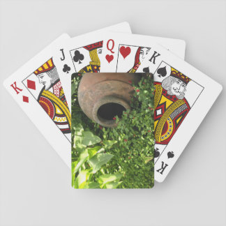 Pottery in the Garden Playing Cards