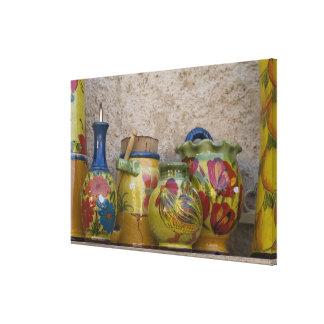 Pottery, Moustiers-Sainte-Marie, Provence, Canvas Print