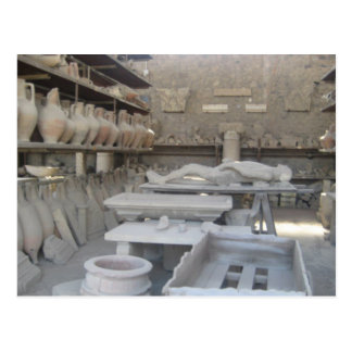 Pottery Room in Pompeii Postcard