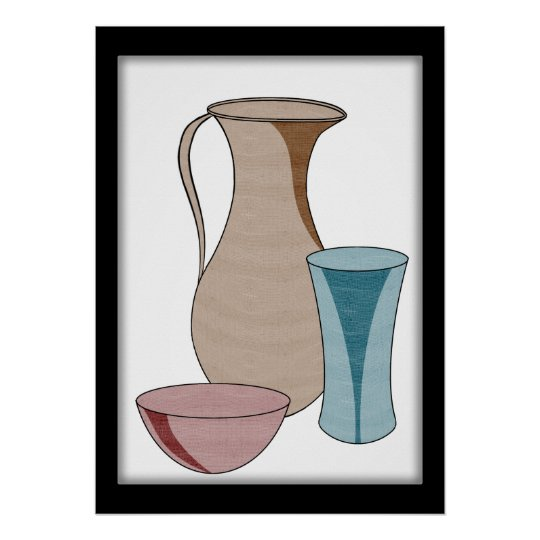 Pottery Stands Alone in Beauty Poster