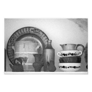 Pottery still life photographic print