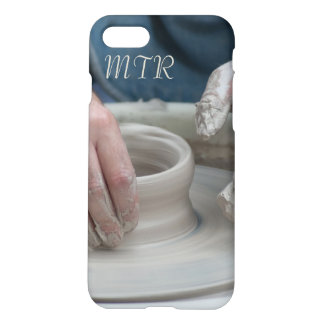 Pottery Wheel Monogram Phone Case