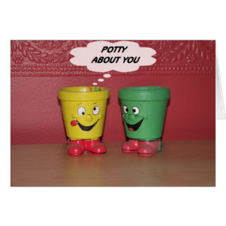 Potty about you note card