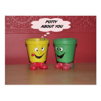 Potty about you postcard