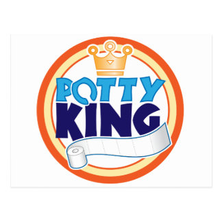 Potty King Postcard