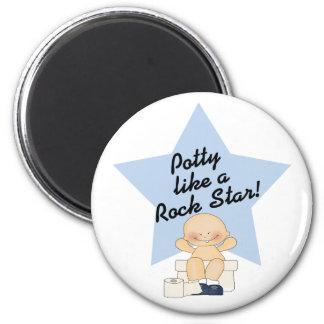 Potty Like A Rock Star 6 Cm Round Magnet