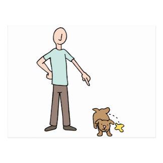 Potty Training Puppy Dog Postcard