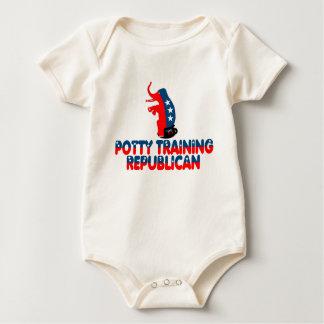 Potty training Republican Baby Bodysuit