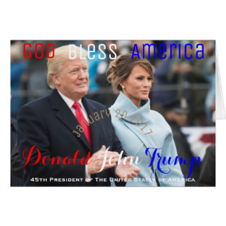 POTUS Donald Trump First Lady Melania Trump USA Card