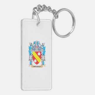 Potzold Coat of Arms - Family Crest Rectangle Acrylic Key Chain