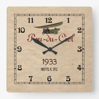 Pou-du-Ciel Square Wall Clock