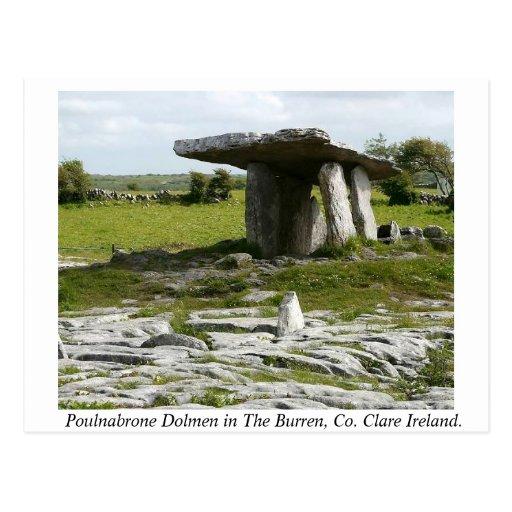 Poulnabrone Portal Tomb, Burren, Clare, Ireland Post Card